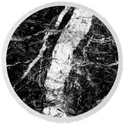 River In The Cliff Round Beach Towel