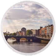 River Liffey 2 - Dublin Round Beach Towel