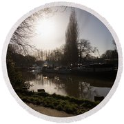 River Medway In Kent Round Beach Towel