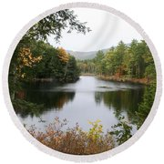 River North Conway Round Beach Towel