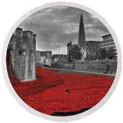 River Of Blood  Round Beach Towel