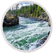 River Power Round Beach Towel