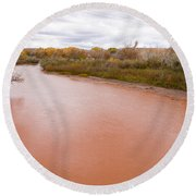 River Red New Mexico Round Beach Towel
