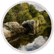 River Reflections II Round Beach Towel