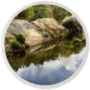 River Reflections IIi Round Beach Towel
