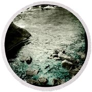 River Rocked Round Beach Towel by Susan Maxwell Schmidt