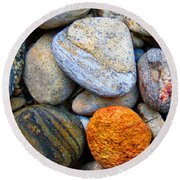 River Rocks 1 Round Beach Towel