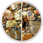 River Rocks 15 In Stereo Round Beach Towel