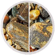 River Rocks 16 In Stereo Round Beach Towel