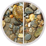 River Rocks 17 In Stereo Round Beach Towel