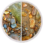 River Rocks 9 In Stereo Round Beach Towel
