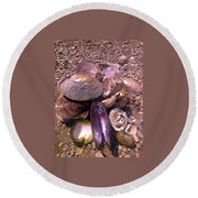 River Shells Round Beach Towel