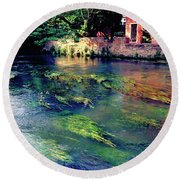 River Sile In Treviso Italy Round Beach Towel