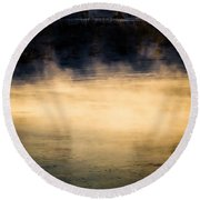 River Smoke Round Beach Towel