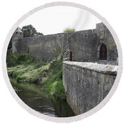 River Suir And Cahir Castle Round Beach Towel