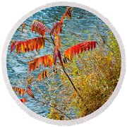 River Sumac Round Beach Towel