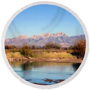 River View Mesilla Round Beach Towel