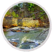 River Wall Round Beach Towel