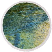 River Water 1 Round Beach Towel