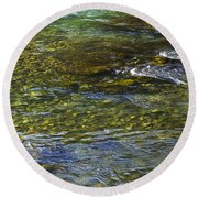 River Water 2 Round Beach Towel