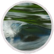 River Wave Round Beach Towel