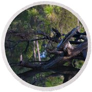 River Wood Round Beach Towel