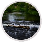 River Wye - In Peak District - England Round Beach Towel