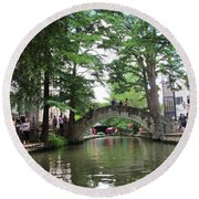 Riverboat View Round Beach Towel