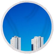 Riverdale Towers Round Beach Towel