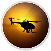 Riverside Ca Pd Air Support Round Beach Towel