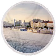 Riverside Round Beach Towel