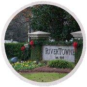 Rivertowne Round Beach Towel