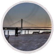 Riverwalk Round Beach Towel