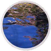 Riverwalk Refletion Round Beach Towel