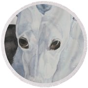 Riveted Round Beach Towel by Susan Herber