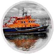 Rnlb 17-28 Brixham Round Beach Towel
