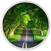 Road Pictures Round Beach Towel