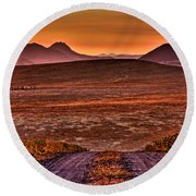 Road To Edna Valley Round Beach Towel