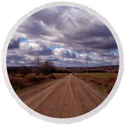 Road To Fillmore Round Beach Towel