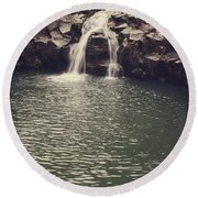 Road To Hana 7 Round Beach Towel