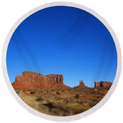 Road To Monument Valley V2 Round Beach Towel