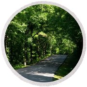 Road To Nature Round Beach Towel