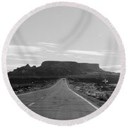 Road To The Rock Round Beach Towel