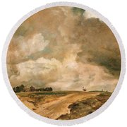 Road To The Spaniards. Hampstead Round Beach Towel