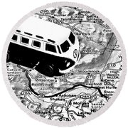 Road Trip - Woodstock Round Beach Towel