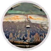 Roadside Relic Round Beach Towel