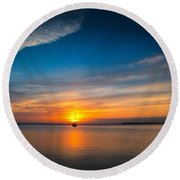 Roanoke Dawn Round Beach Towel