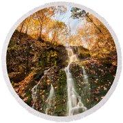 Waterfall - Roaring Brook Autumnlands Round Beach Towel