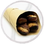 Roasted Chestnut Round Beach Towel