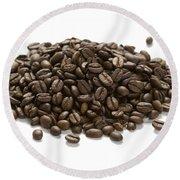 Roasted Coffee Beans Round Beach Towel